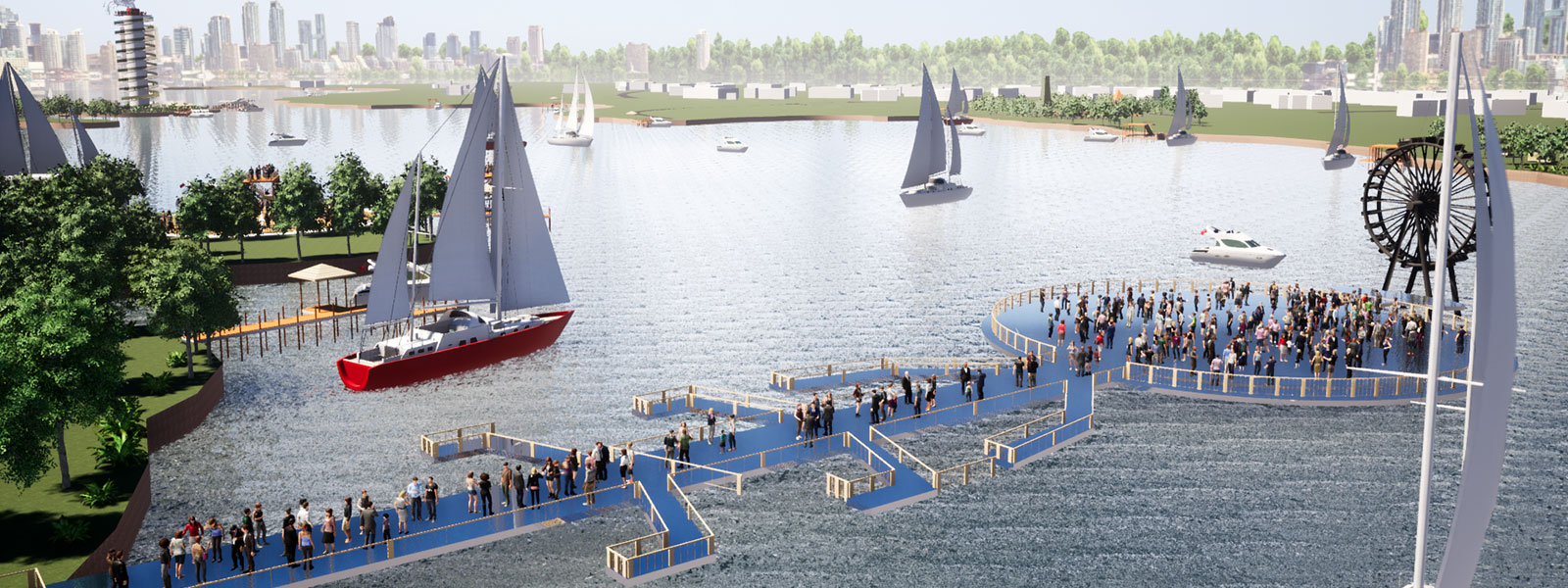 Artistic Impression Arial View of the proposed masterplan for the source of the Nile