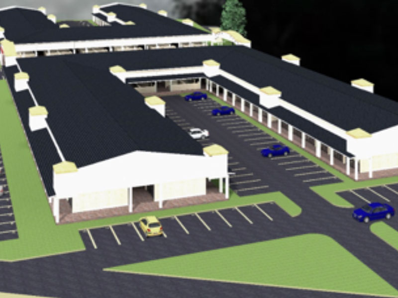 an artistic impression of some of the section of Lwakhakha Boarder market developed by Strategic friends International