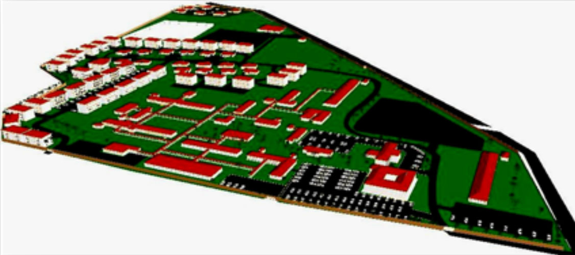 AN ARTISTIC IMPRESSION OF MOROTO REGIONAL REFERRAL HOSPITAL MASTER PLAN, DEVELOPED ON SCALE
